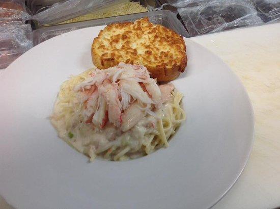 Restaurant Poissonnerie Escoumins: Pâtes aux crabes des neiges