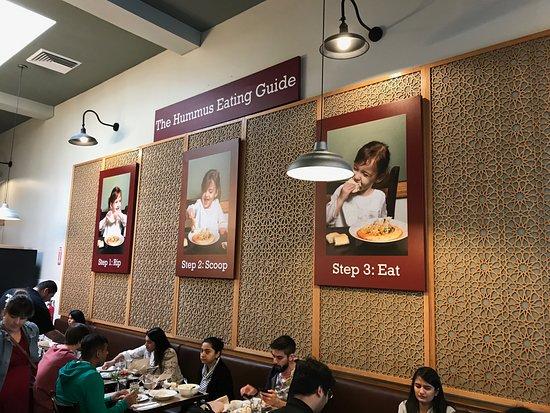 Oren's Hummus: Inside the restaurant