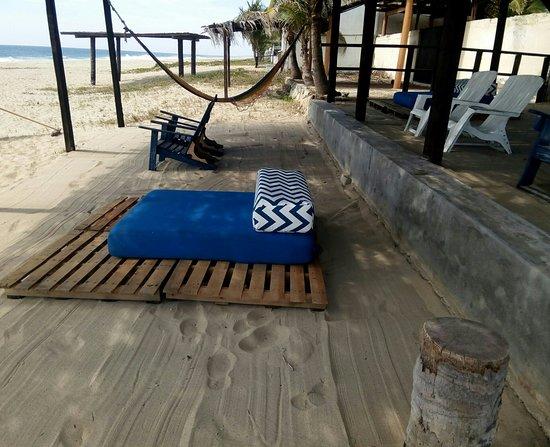Posada Zaira del Mar : Área de la playa, un lugar para estar en conexión con la naturaleza