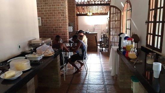 Itaberaba: Área do café da manhã.