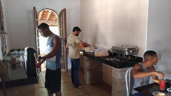 Itaberaba, BA: Área do café da manhã.