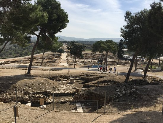 Zippori, Israel: A view down to the Roman village from the villa