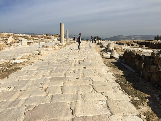 Zippori, Israel: Roman road complete with chariot ruts