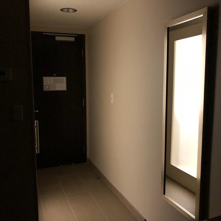 Middle Of The Night Light Coming Through The Frosted Glass Door On