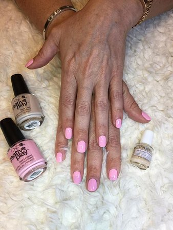 Baby pink color with CND (Creative Nail Design) from USA. - Picture ...