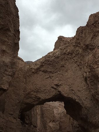 Natural Bridge Canyon: the formation from the lower end of the canyon
