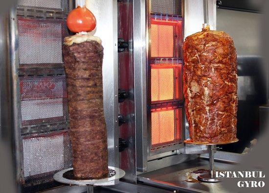 Istanbul Gyros: Beef and lamb doner (shawarma) and chicken doner (shawarma)