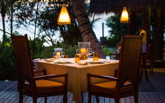 Anse Louis, Seychellene: Tec Tec Restaurant, romantic atmosphere