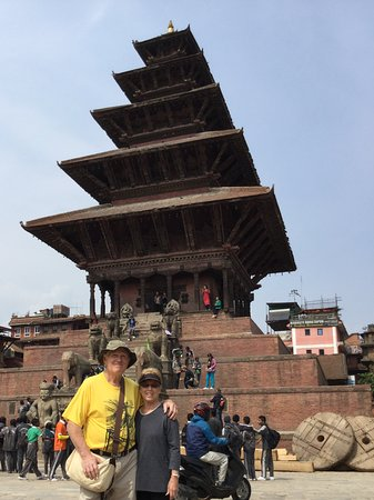 Kathmandu Valley, Nepal: One of the temples at Bhaktapur Durbar