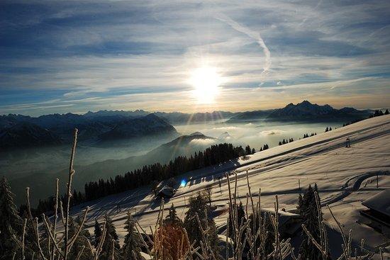 Kräuterhotel Edelweiss: Winter Aussicht von der Rigi
