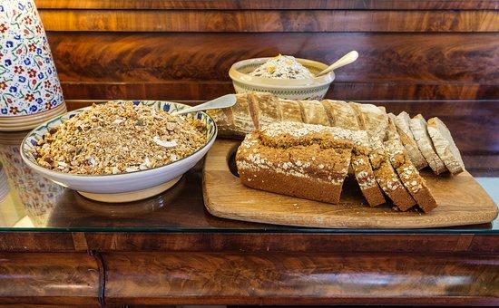 Ravenhill Guesthouse:  Granola, muesli, sourdough bread and wheaten bread, all home made.