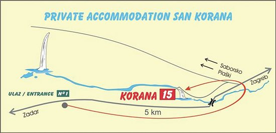 San Korana: Direction map on hot to find us
