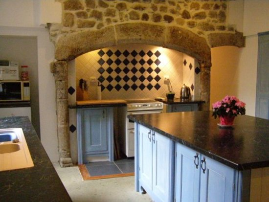 Entraygues-sur-Truyere, France: Kitchen, also reception as you enter into this from the balcony