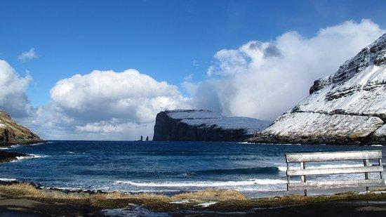 Eysturoy, หมู่เกาะแฟโร: udsigt til figurerne