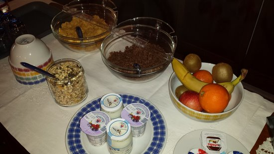 Peccioli, Italien: A part of our buffet for breakfast