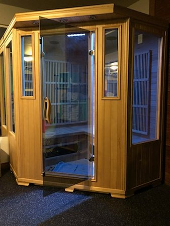 Open Hearth Lodge: New Sauna in the Fitness Room