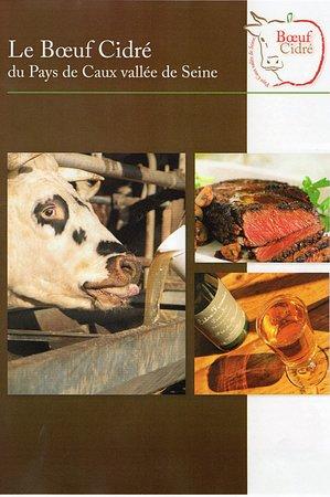 Tourny, France: Bœuf cidré chez nous.....Un vrai gage de qualité.....