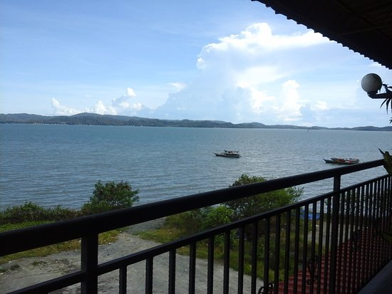 Lahad Datu, Malasia: View from balcony