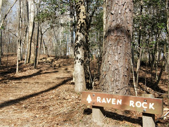 Lillington, NC: The trail to Raven Rock includes a long stairway with 100 steps!