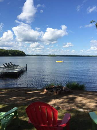 Birchwood, WI: Sandy beach and swimming