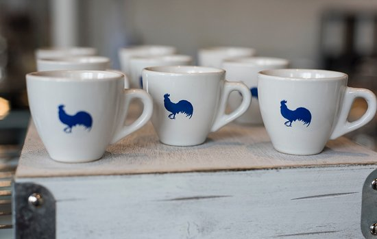 Victor, NY: Rooster Espresso Cups