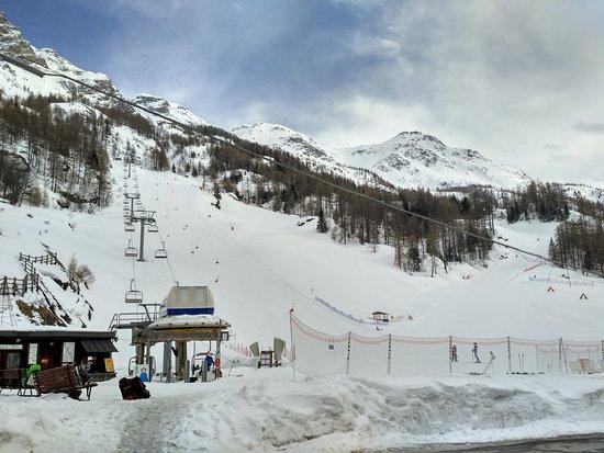 Valgrisenche, Włochy: Seggiovia e fine piste