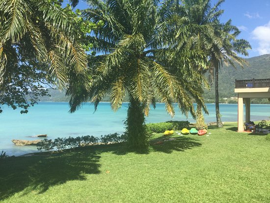 Bluefields, Jamaica: View from pool pavilion at San Michele