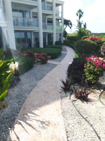 Coral Gardens on Grace Bay: Pathway during day to your room