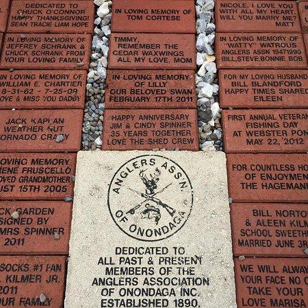 Webster Pond: engraved bricks as you wish $100