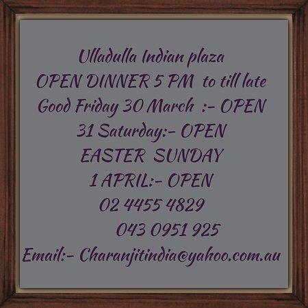 Ulladulla, Australia: We are open on school holidays 7 days week  Just call before 02 44554829