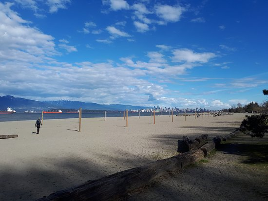 View of Vancouver skyline from Spanish banks