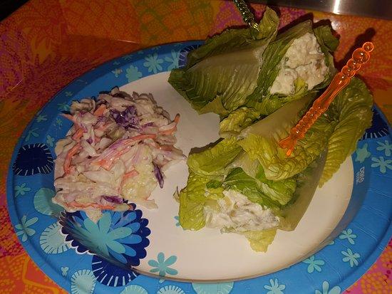 Andover, KS : Chicken Salad Lettuce Wrap & Coleslaw
