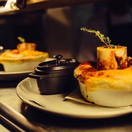 Browns Brasserie & Bar: Steak pie with bone marrow