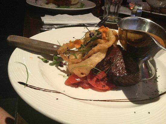 Bridge House Hotel Spa: My son's steak. He was happy.