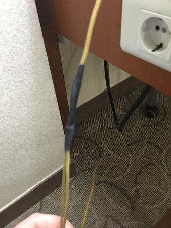Hotel Paragon: Wires do in room are repaired with tape, safty of the guest are not important