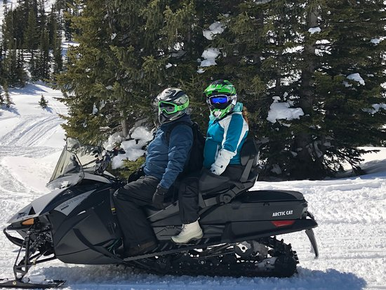Snowmobiling in Cooke City