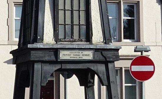 Tillicoutry Clock Tower: inscription