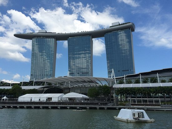 Three Towers Of Marina Bay Sand Hotel That Support The Swimming Pool