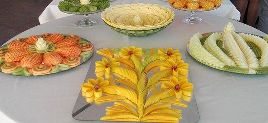 Fruta laminada pelo nosso artista