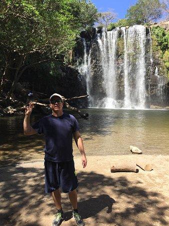 Tenorio Volcano National Park, Costa Rica: Kyle at Waterfall
