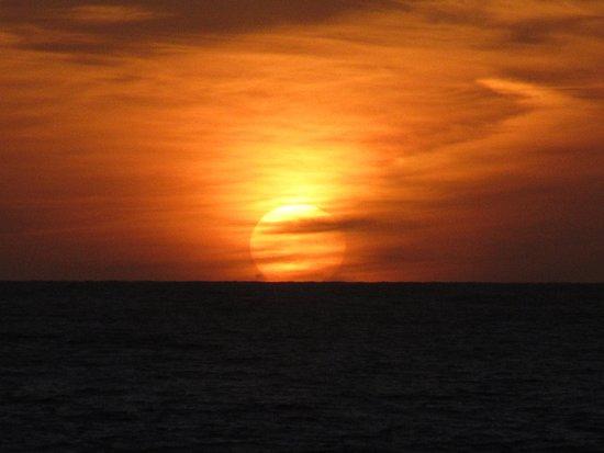 Ocean Park Inn: sunset view from balcony