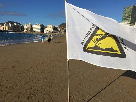 Playa de Las Canteras: flag
