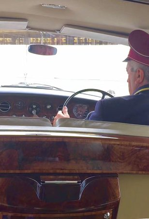 Badrutt's Palace Hotel: Vintage 1968 Rolls courtesy of the Palace, view from the back seat!