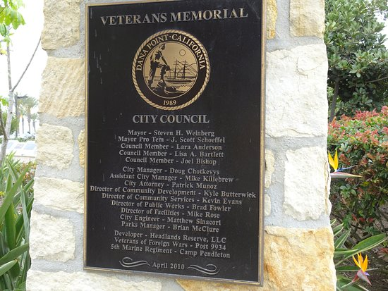 Dana Point, Californië: Plaque commemorating the monument