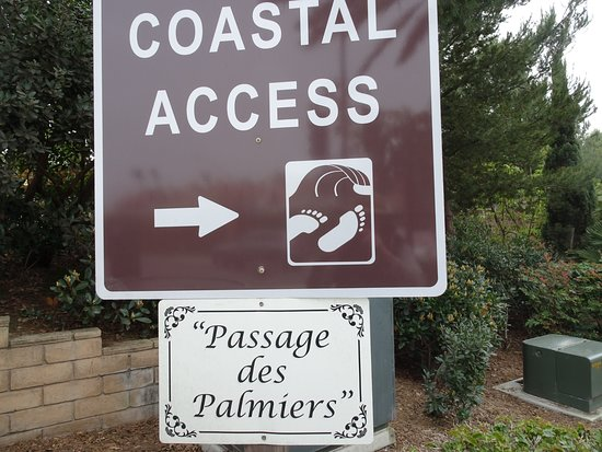 Dana Point, Californië: Next to the monument is a beautiful path to The Strands park