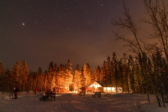 Aurora Borealis & Northern Lights Tours Yukon: One of the Northern Tales Aurora Viewing Site