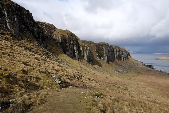 This is Staffin cliffs on route down to beach.