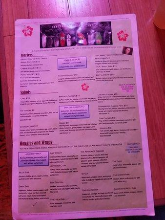 Cheney, WA: menu