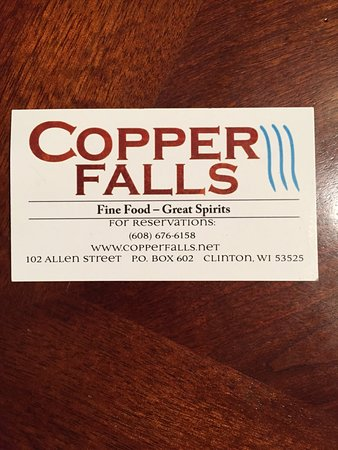 Clinton, WI: Copper Falls