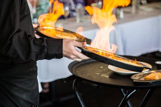 Greektown Taverna: Saganaki(Flaming Cheese)
